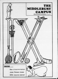 1976 Jan The Middlebury Campus Cover Page Title IX
