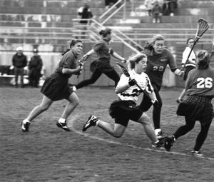 1997 Lacrosse Championship - Heidi Howard in action
